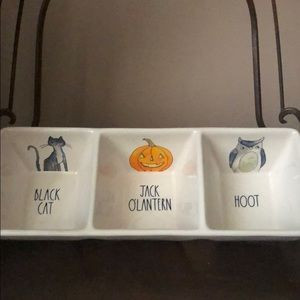 👻 Rae Dunn 3 Section Halloween Tray